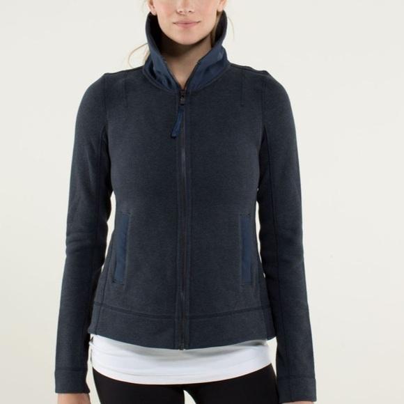 Lululemon En route jacket inkwell back zipper vent